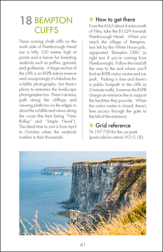 The Photographer's Guide to The North Yorkshire Coast - Sample Page 5