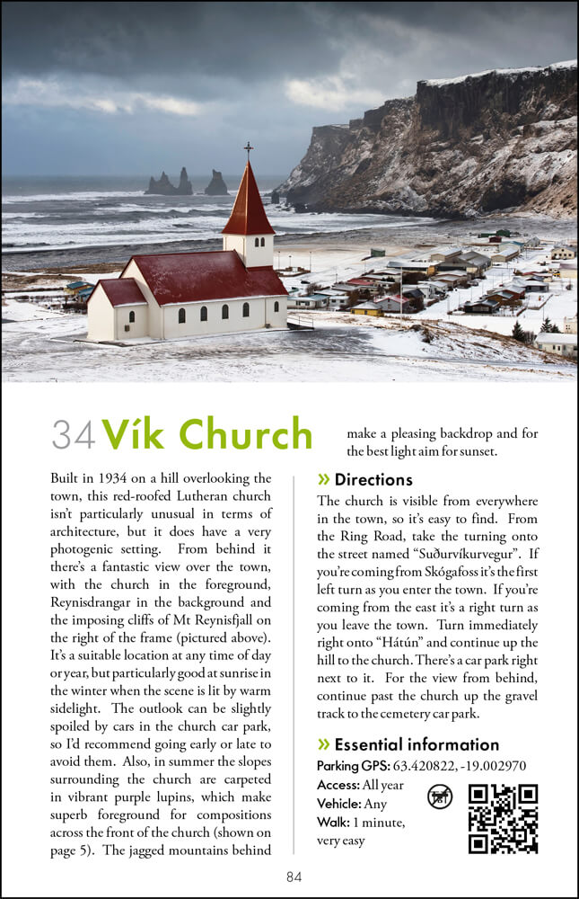 The Photographers Guide to Iceland Volume 1 - sample page 2