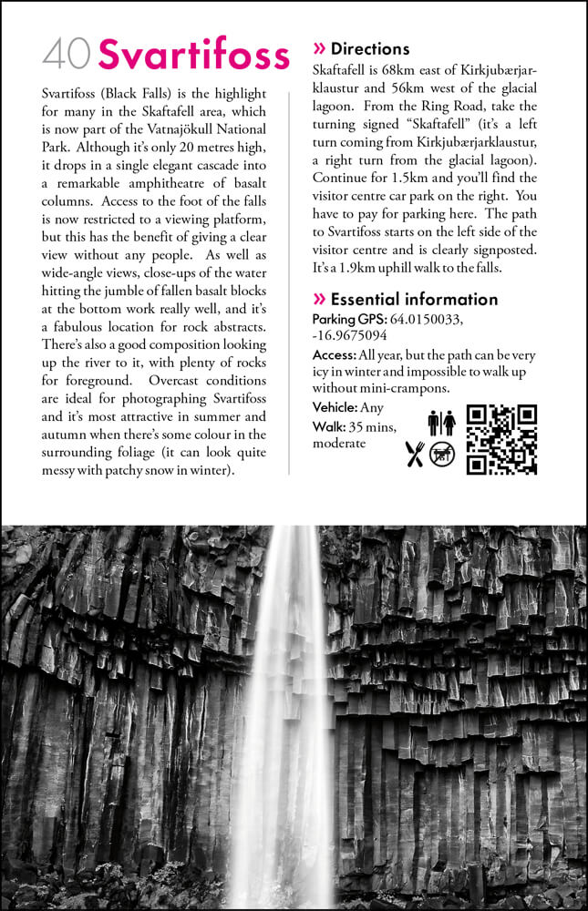 The Photographers Guide to Iceland Volume 1 - sample page 5