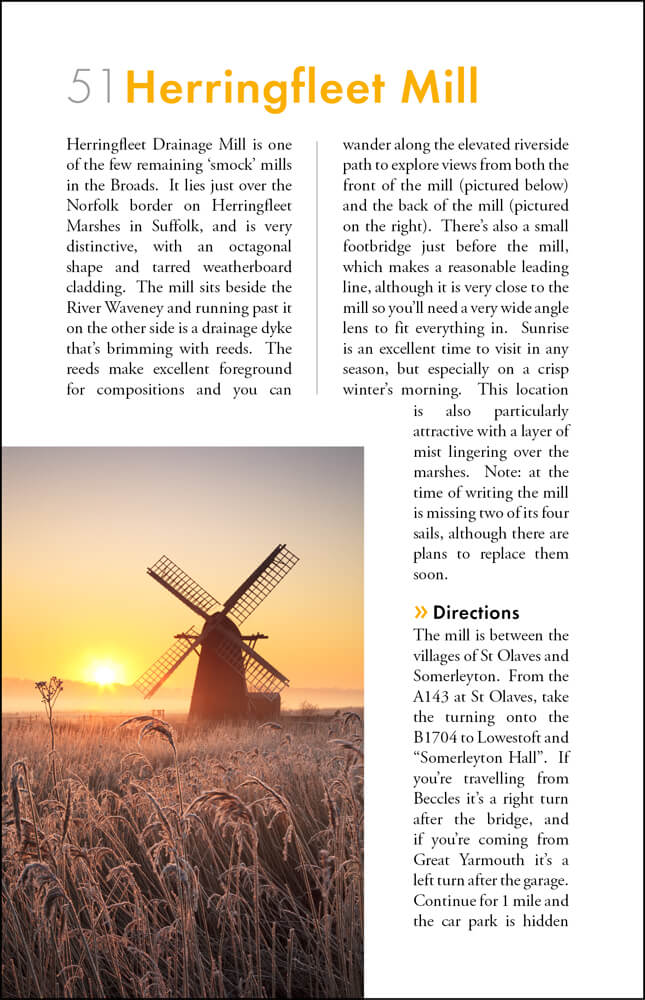 The Photographers Guide to The Norfolk Coast & Broads - sample page 4