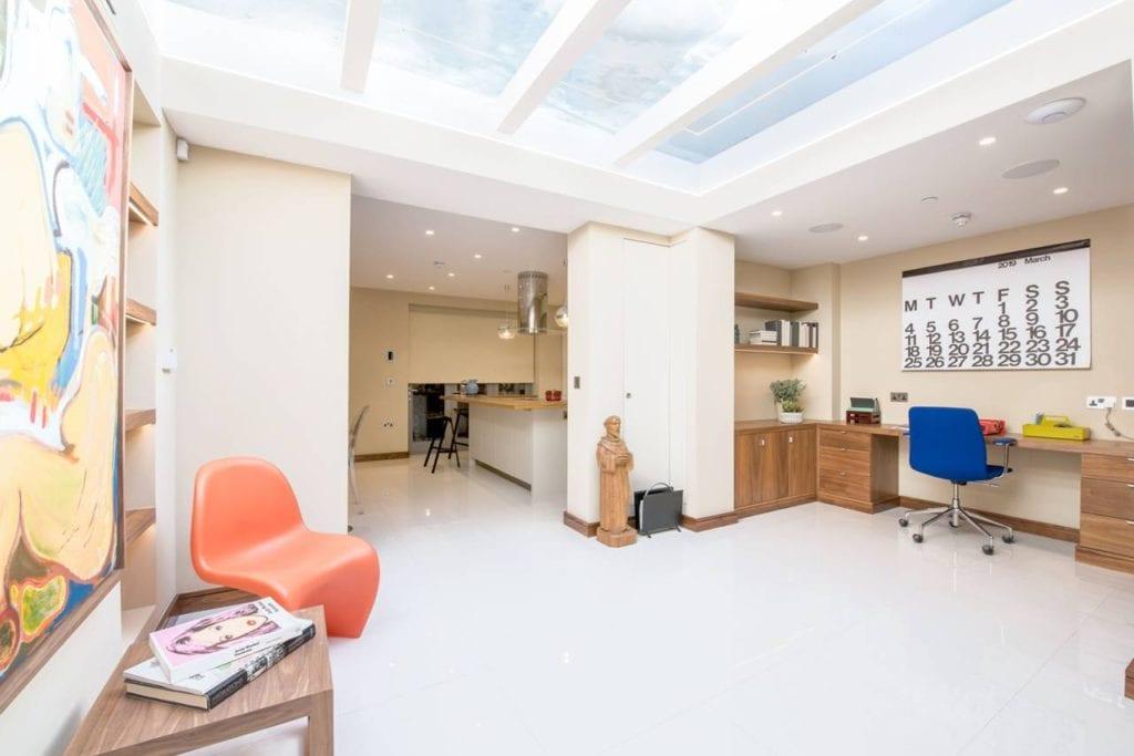Rutland Gate – basement study area