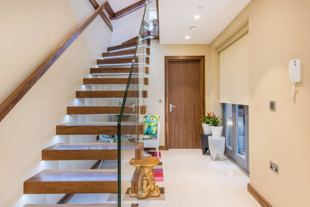 Rutland Gate – basement staircase