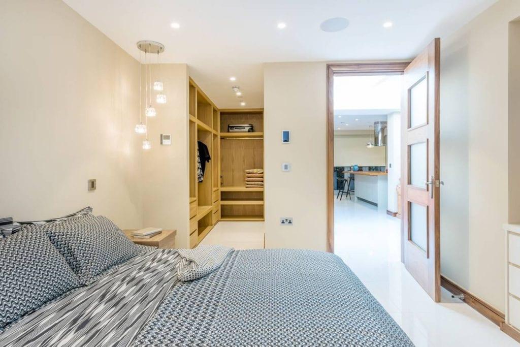 Rutland Gate – bedroom 1 kitchen outlook