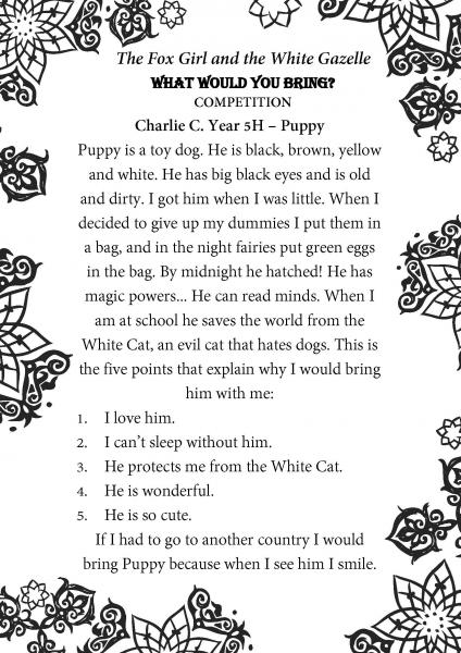 Charlie C. Year 5H Beechview Part 2