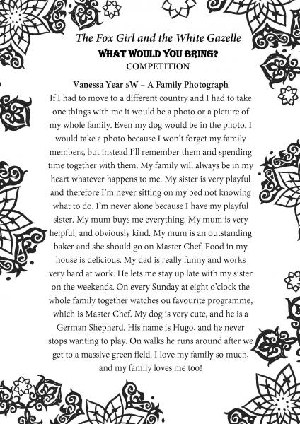 Vanessa Year 5W Beechview