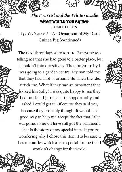 Tye W. Year 6P Beechview Part 2