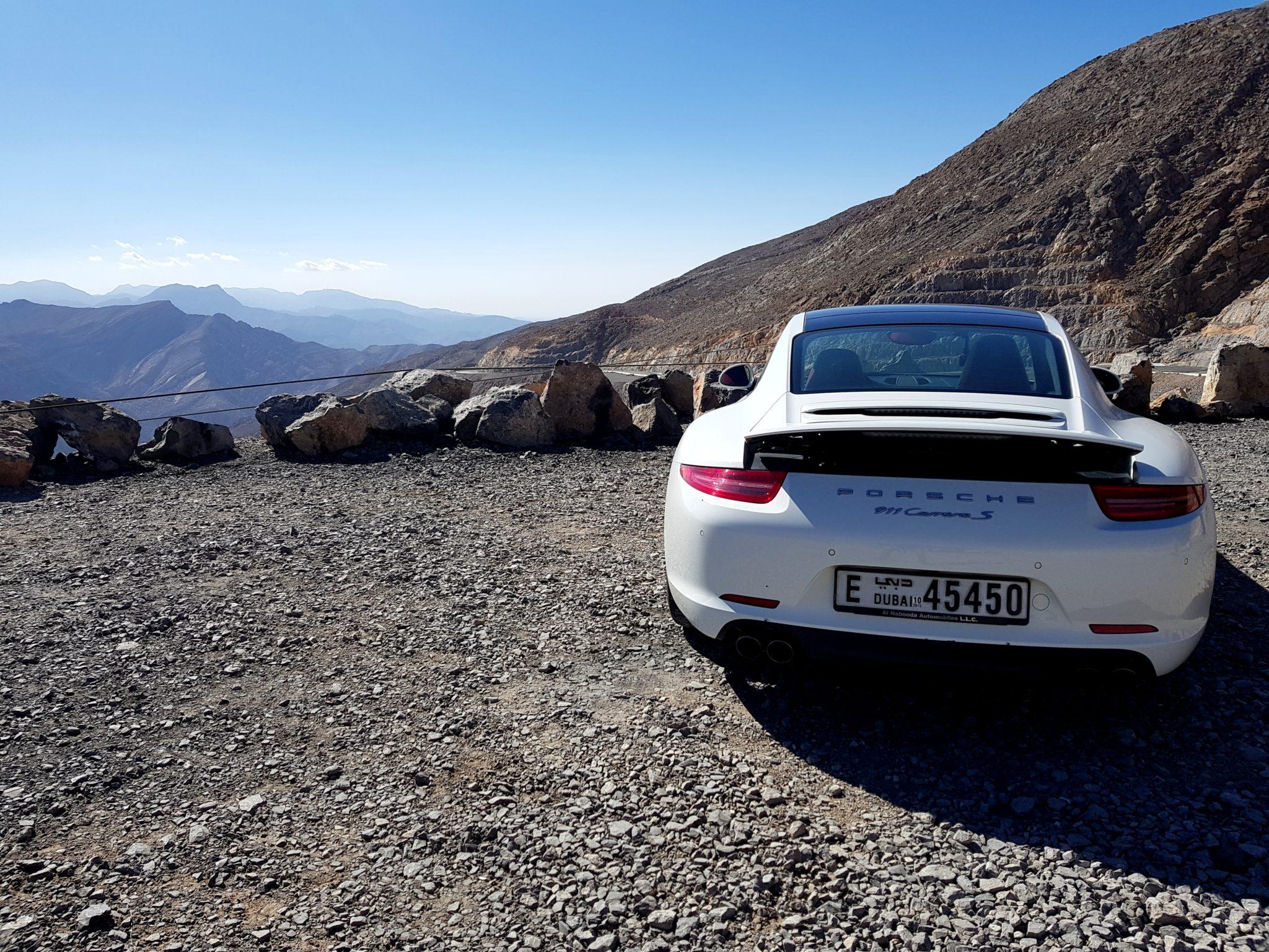 A Porsche on a Desert Mountain