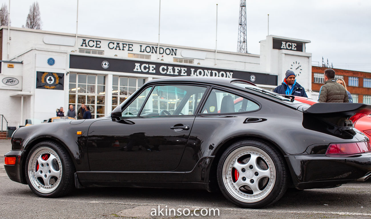 End of Year Porsche Meet at the Ace Cafe