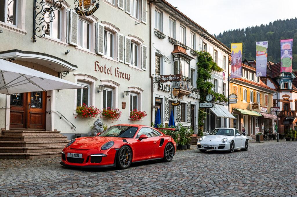 Wolfach, Germany. Porsche 911 GT3 RS, Porsche 911 GTS