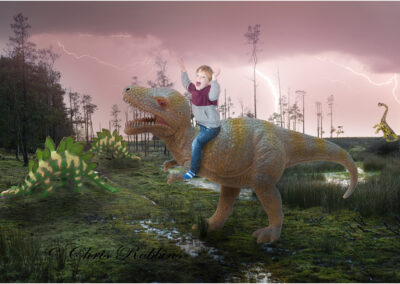 This was a poster made for my grandson who loves dinosaurs; it is a composite of seven images.