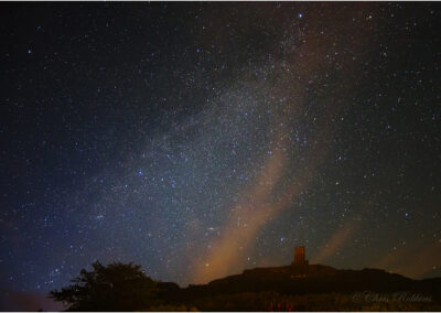 The night sky over Brentor