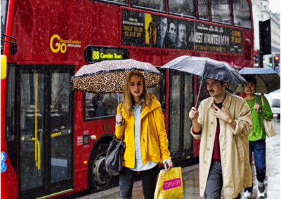 This image of Oxford Street on a rainy day was used for a book illustration in Brazil.