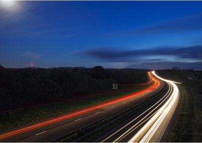 The A30 dual carriageway heading west.