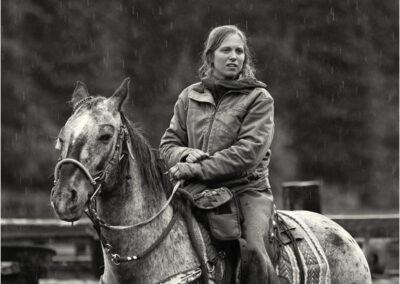 Wrangler in the rain