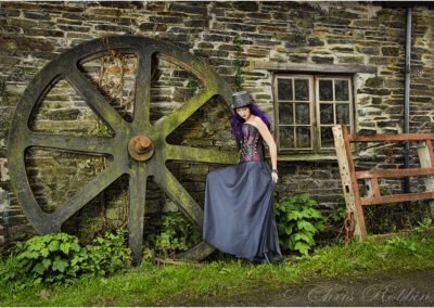 Taken for a model going to a steampunk wedding party, she wanted some environmental portraits taken beforehand.