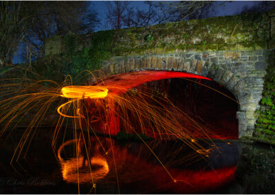Bringing the Old Railway Bridge back to Life, Taken to illustrate a talk on Painting with Light photography.