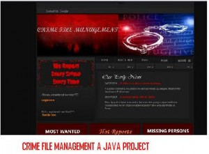 Crime File Management A Java Project – 1000 Projects