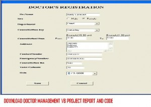 Download Doctor Management VB Project Report And Code