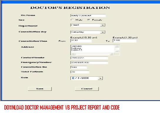 Download Doctor Management VB Project Report And Code – 1000