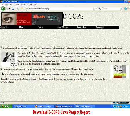 Download E-COPS Java Project Report – 1000 Projects