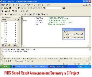 IVRS-Based-Result-Announcement-Summary-a-C-Project