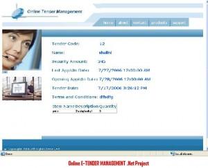 Online-E-TENDER-MANAGEMENT -Net-Project