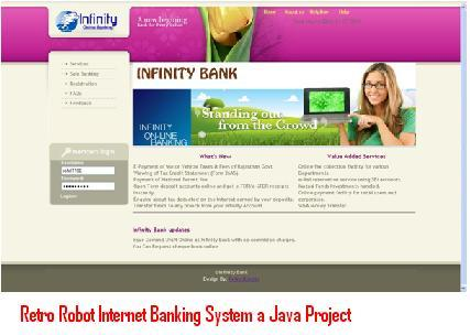 Retro Robot Internet Banking System a Java Project – 1000
