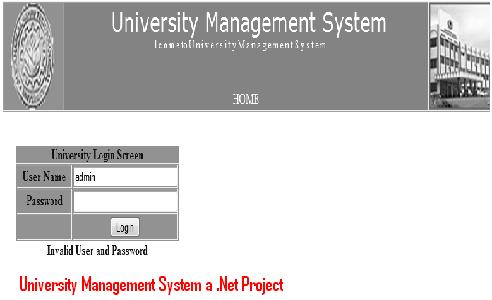 University Management System Dbms Project
