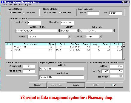Vb Project On Data Management System For A Pharmacy Shop 1000 Projects