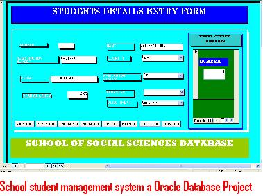 School Student Management System a Oracle Database Project