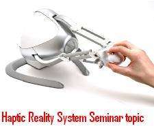 Haptic-Reality-System-Seminar