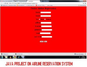 Java Project on Airline Reservation System