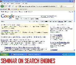 SEMINAR-ON-SEARCH-ENGINES