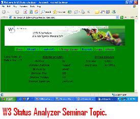 W3-Status-Analyzer-Seminar-Topic