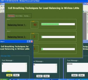 Cell Breathing Techniques for Load Balancing in Wireless LANs