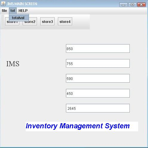 Inventory Management System Project in Java