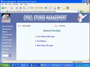 Stores Management System Project
