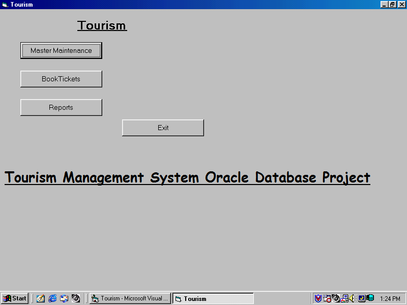 Tourism Management System Oracle Database Project