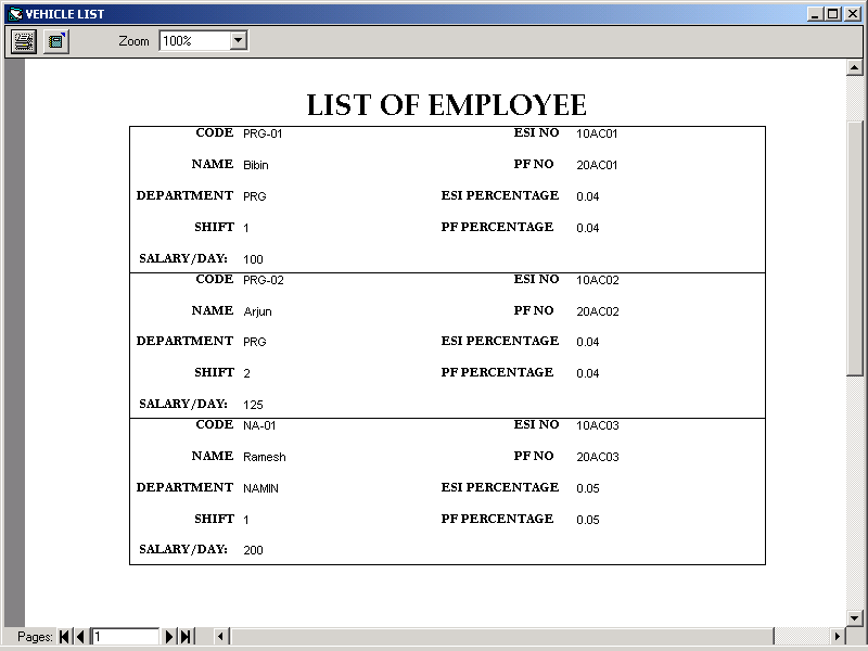 Payroll Management System Engineering Project Screens and