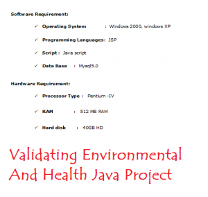 Implementing And Validating Environmental And Health Java Project