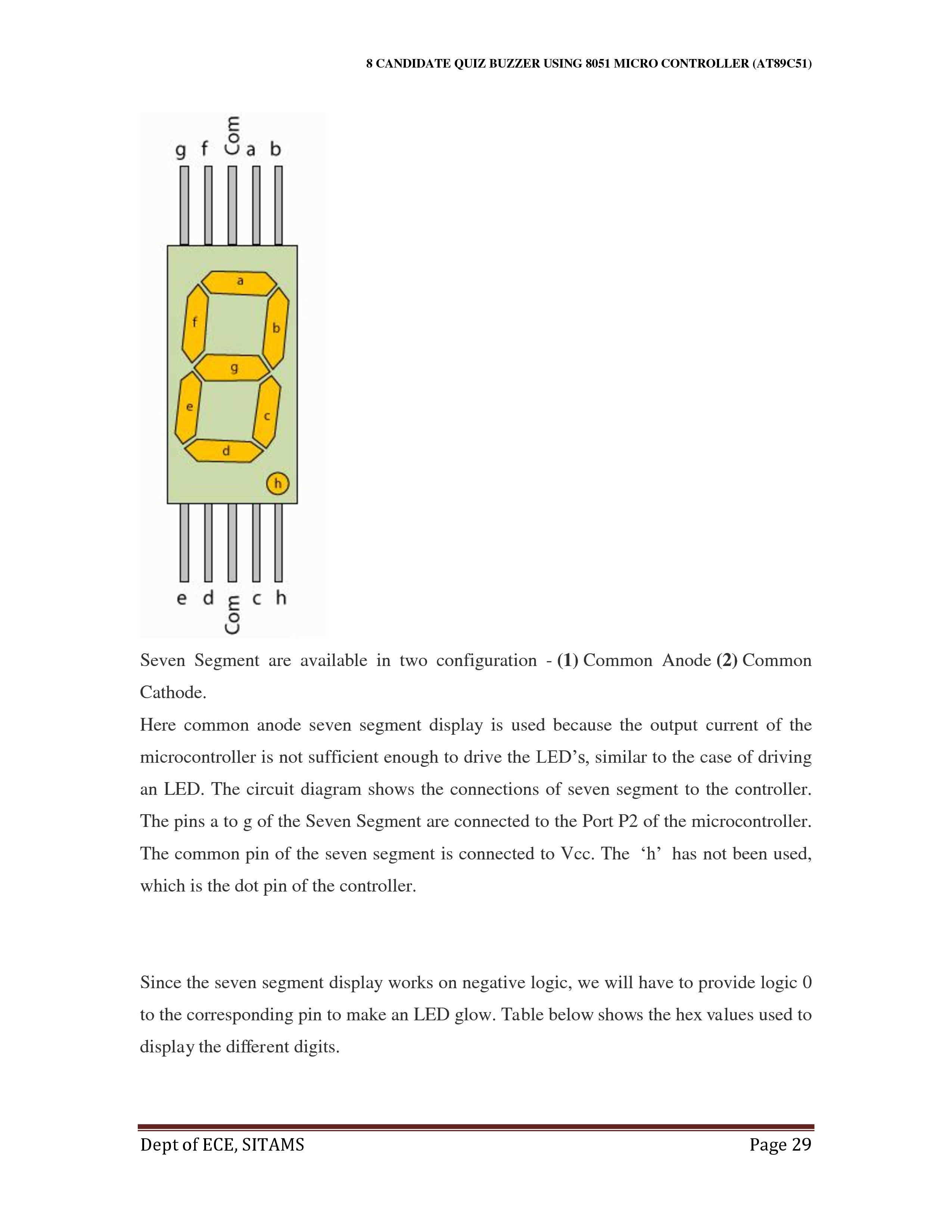 Enjoyable 8 Candidate Quiz Buzzer Using At89C51 Microcontroller Wiring Cloud Brecesaoduqqnet