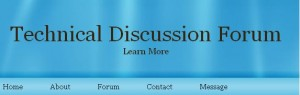 Online Technical Discussion Forum