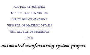 automated manfacturing system