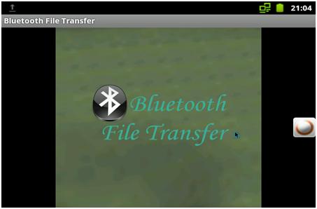 Bluetooth File Transfer Screen