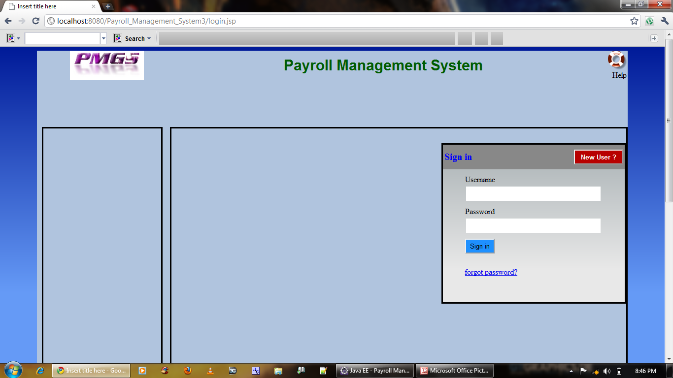 Payroll Management System Java Project
