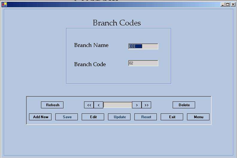 Branch Codes