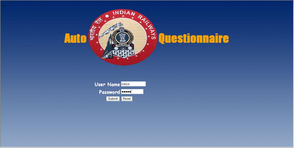 auto questionnaire