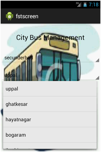 City Bus Management Android Application – 1000 Projects