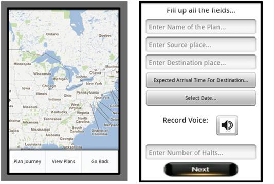 Location Based Voice Reminder for a Planned Journey
