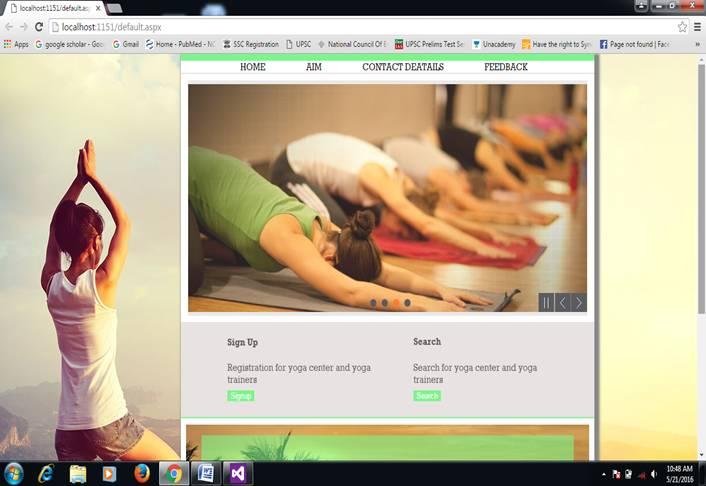 Online yoga classes finder